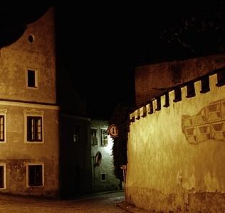 Night Street / Noční ulička ve Slavonicích