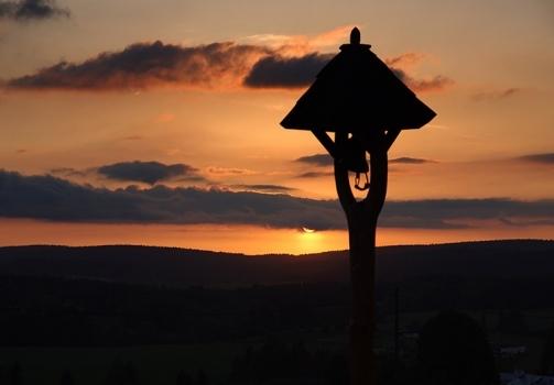 Sunset on the Highlands / Večer na Kuklíku